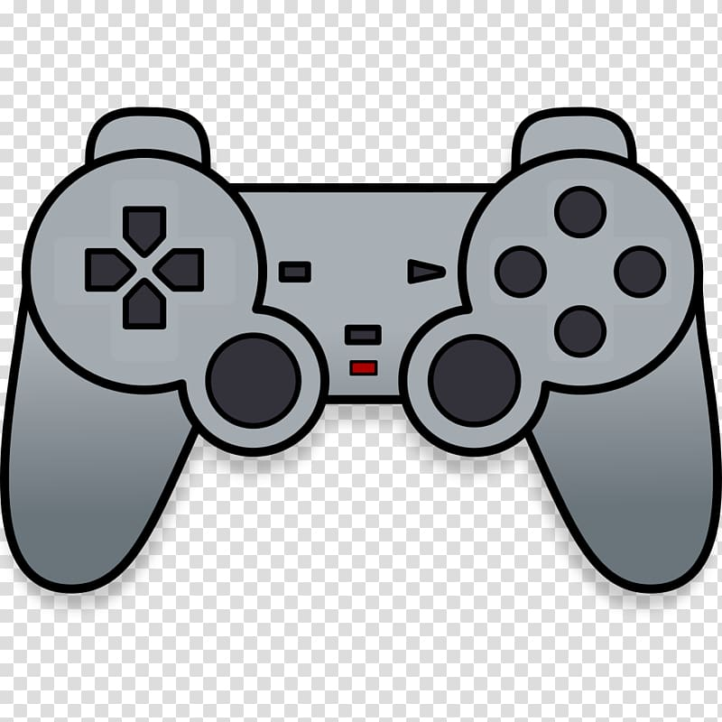 Gray game controller illustration, PlayStation 2 PlayStation.
