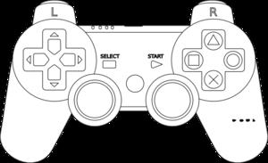 Playstation Controller Clip Art at Clker.com.