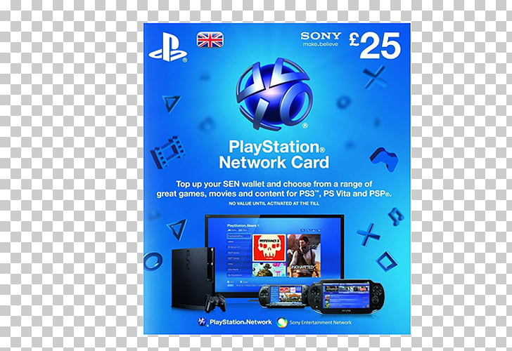 PlayStation 3 PlayStation 4 PlayStation Network Card.