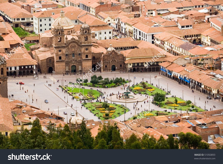 Plaza De Armas Cuzco Peru Stock Photo 51050893.