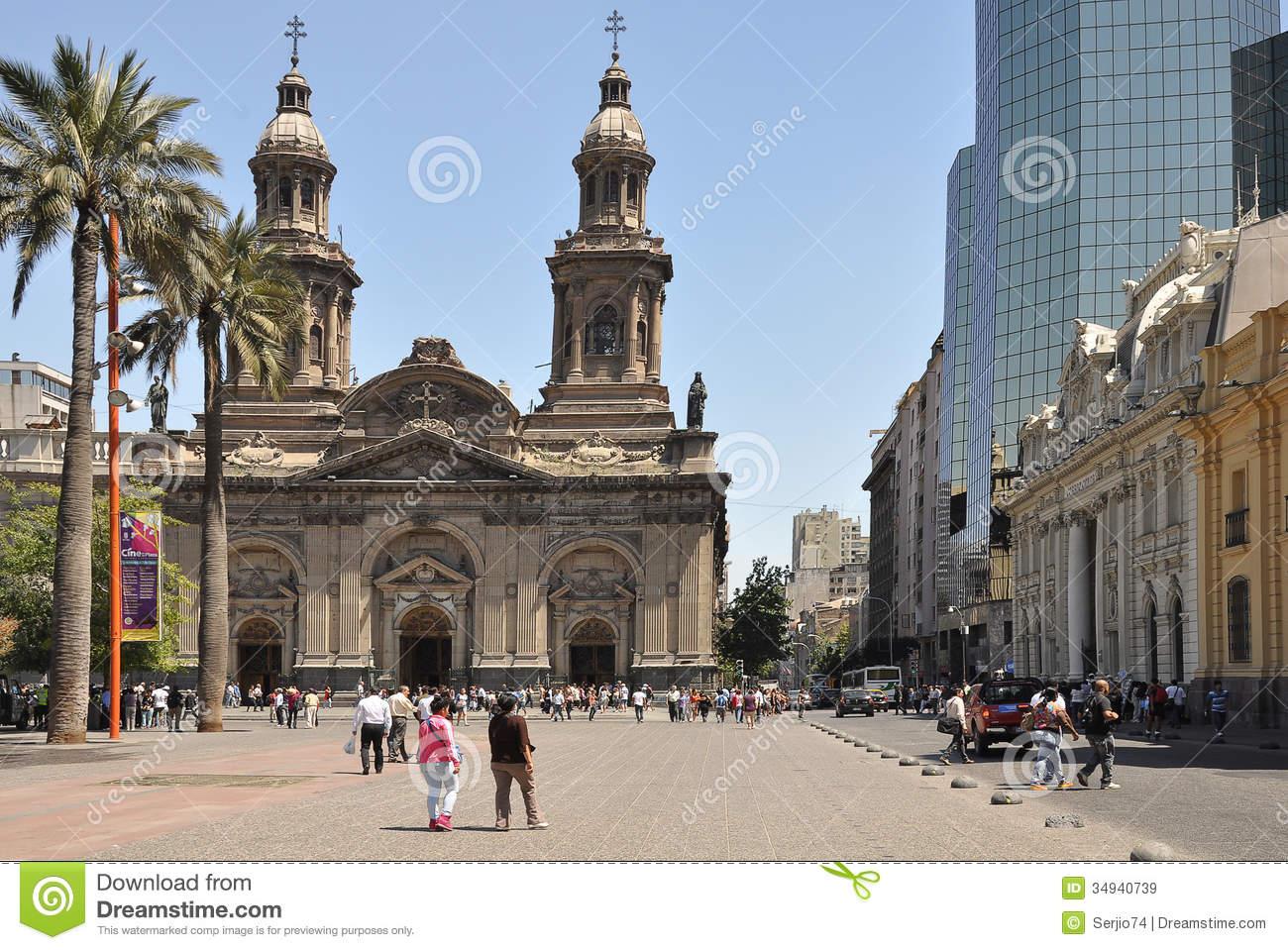 Plaza De Armas. Santiago De Chile. Editorial Stock Image.