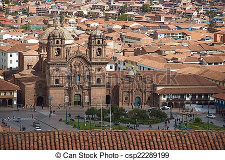 Stock Photographs of Plaza de Armas in Cusco.