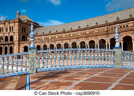 Stock Photography of Plaza de Espana, Seville.
