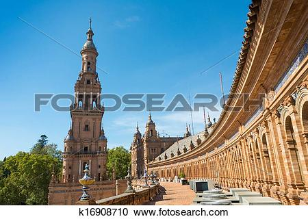 Stock Photography of Seville Spain Plaza de Espana k16908710.