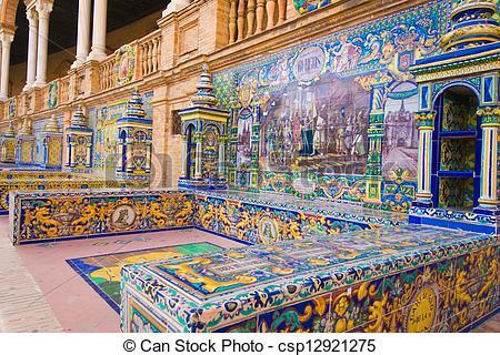 Picture of Famous Plaza de Espana, Sevilla, Spain.