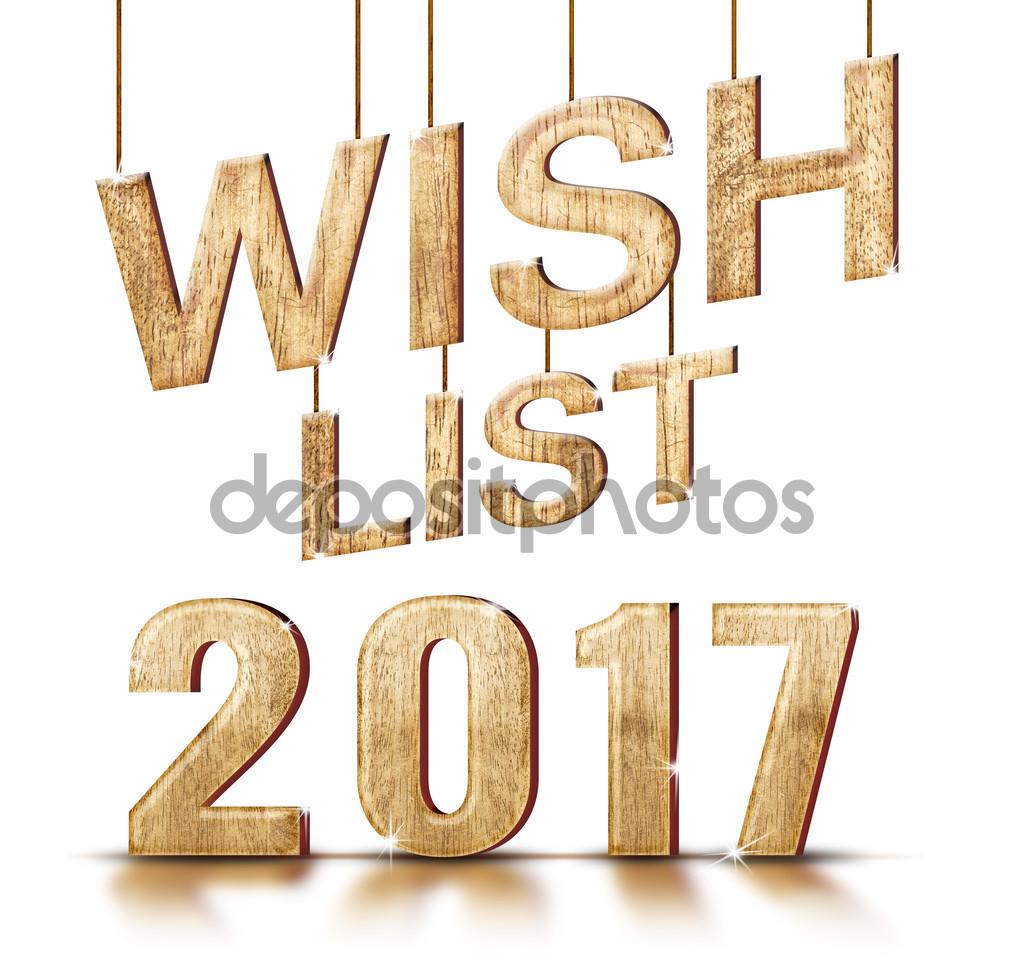 Textura de madera 2017 lista de deseos — Foto de stock © weedezign.