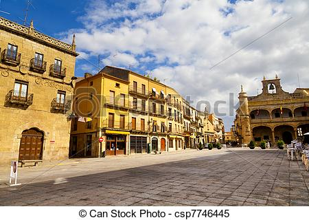 Stock Images of Plaza Mayor Square, Ciudad Rodrigo, Salamanca.