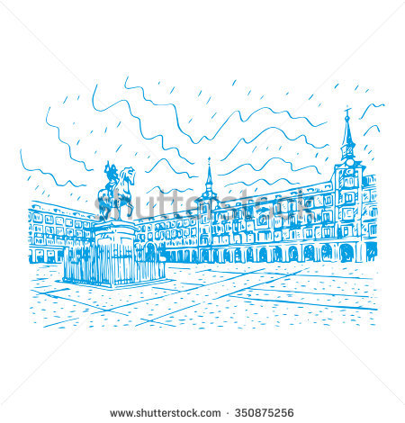 Plaza Mayor Spain Stock Vectors & Vector Clip Art.