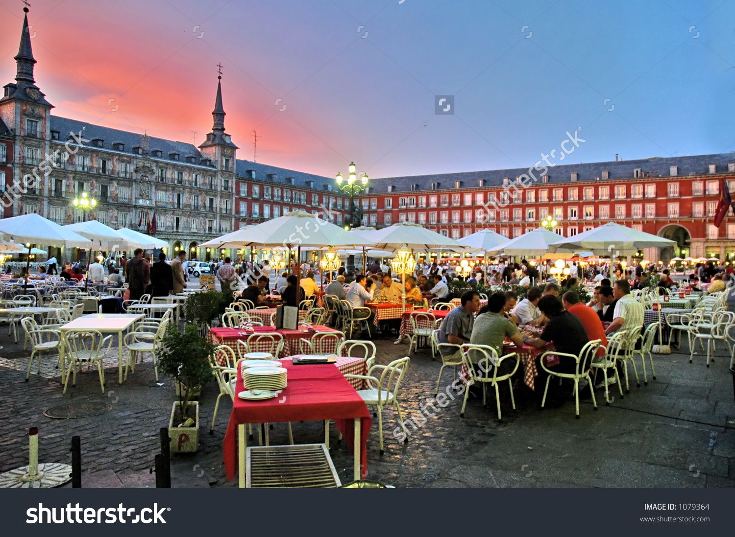 Plaza Mayor Madrid Spain Stock Photo 1079364.