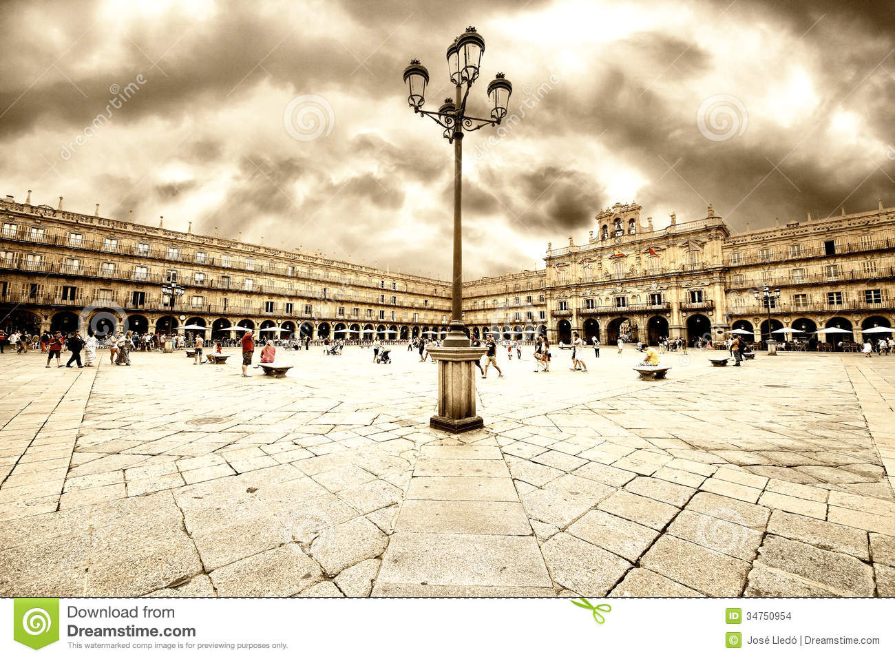 Plaza Mayor Of Salamanca Editorial Stock Image.