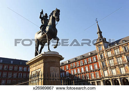 Picture of Madrid, Spain. Plaza Mayor. x26989867.