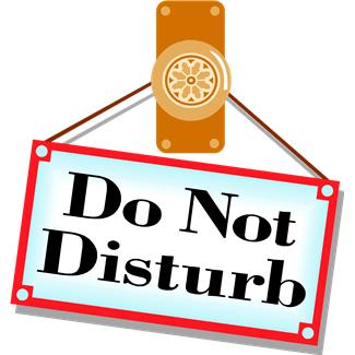 Do not disturb clipart 2 » Clipart Station.