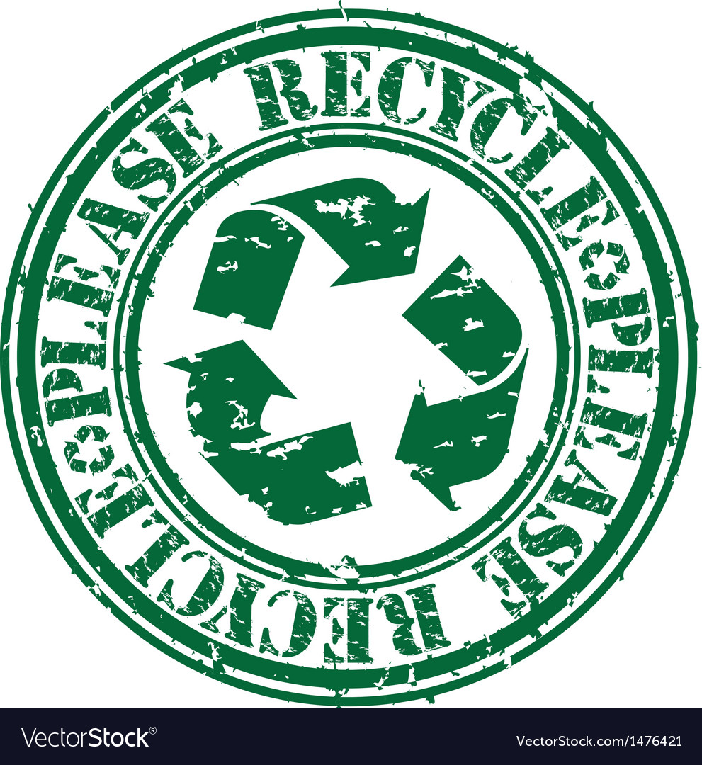 Please recycle stamp.