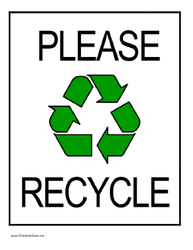 Recycling Signs.