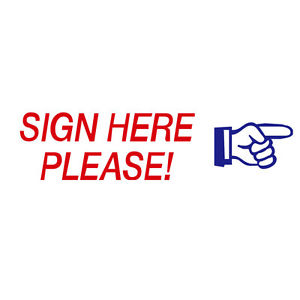 Sign Here Clipart.