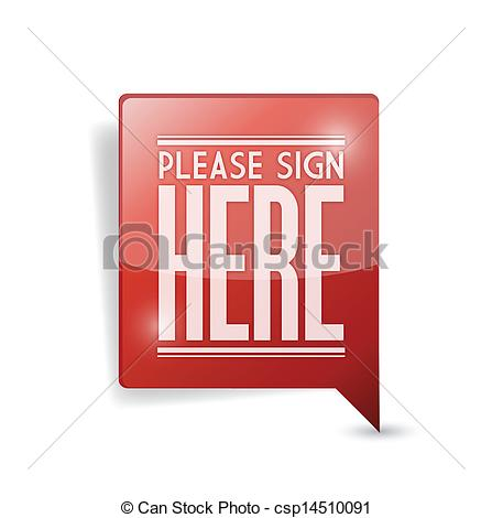 EPS Vectors of please sign here pin point marker illustration.