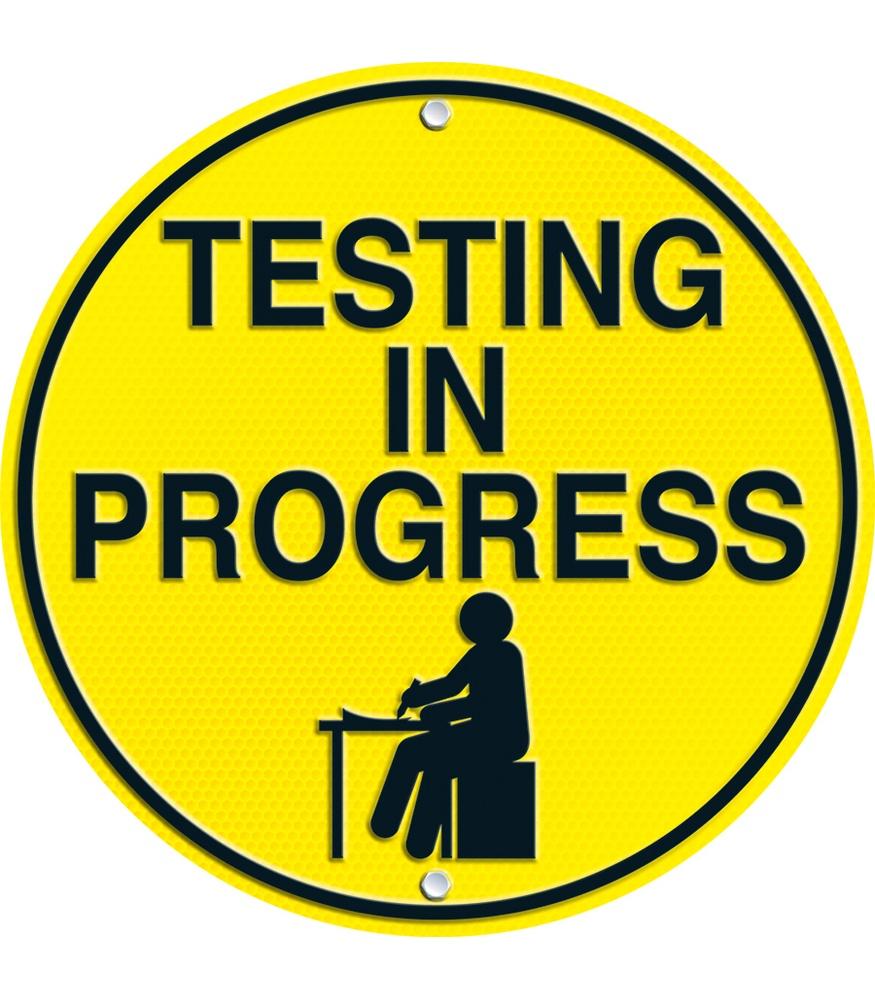Testing Quiet Please Sign.