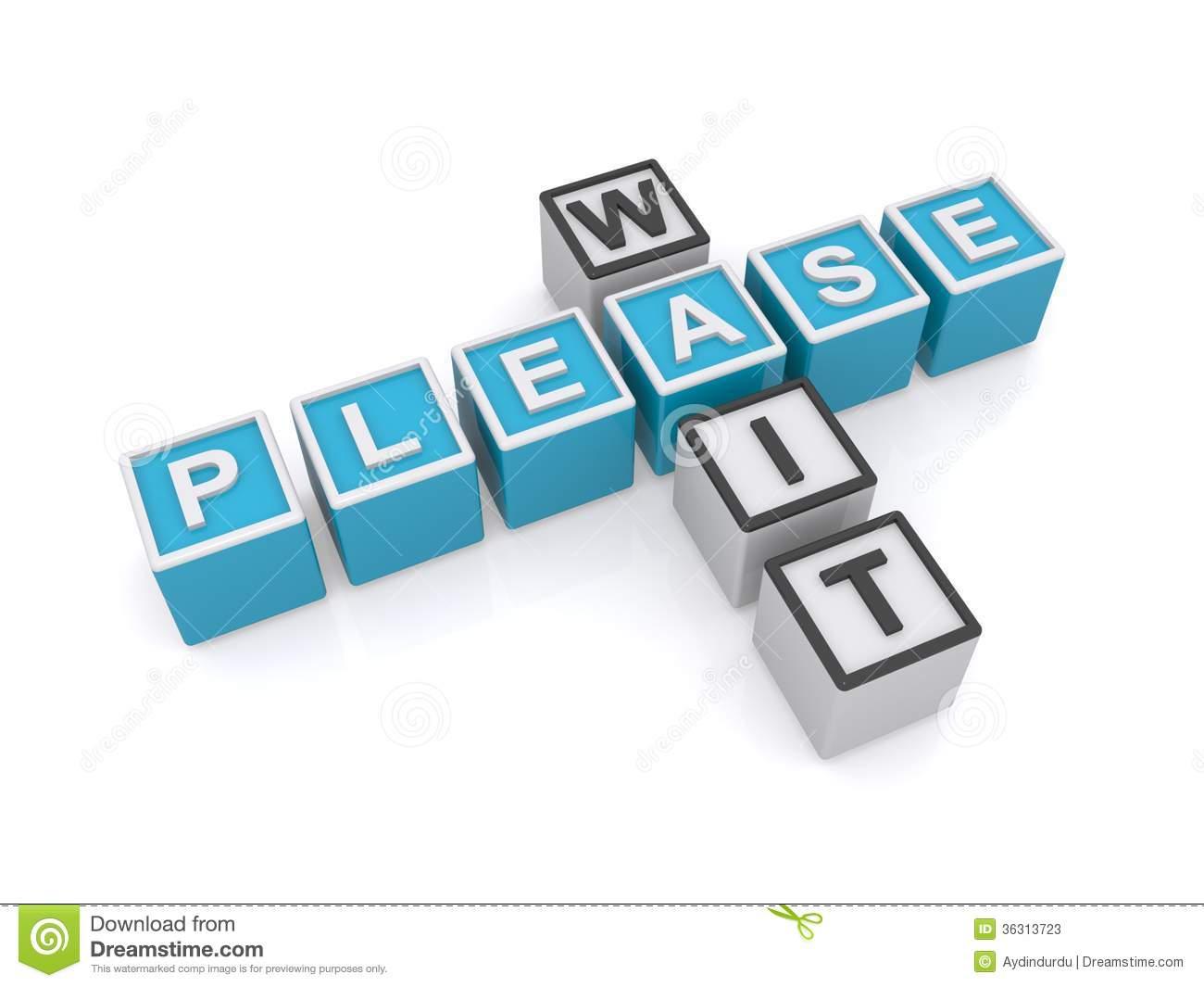 Please Sign Clipart Please Wait Sign Stock Photos #NupshM.