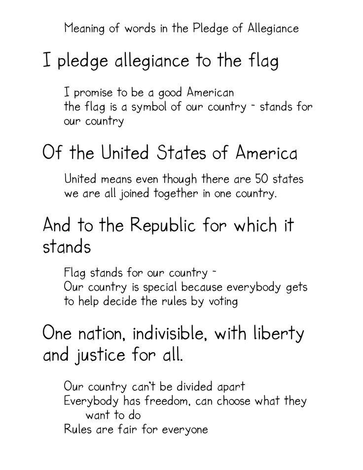 17 Best ideas about Pledge Of Allegiance on Pinterest.