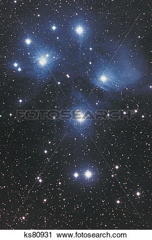 Stock Photography of Pleiades in Taurus ks80931.