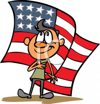 Boy Doing the Pledge of Allegiance.