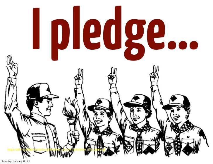 Pledge clipart.