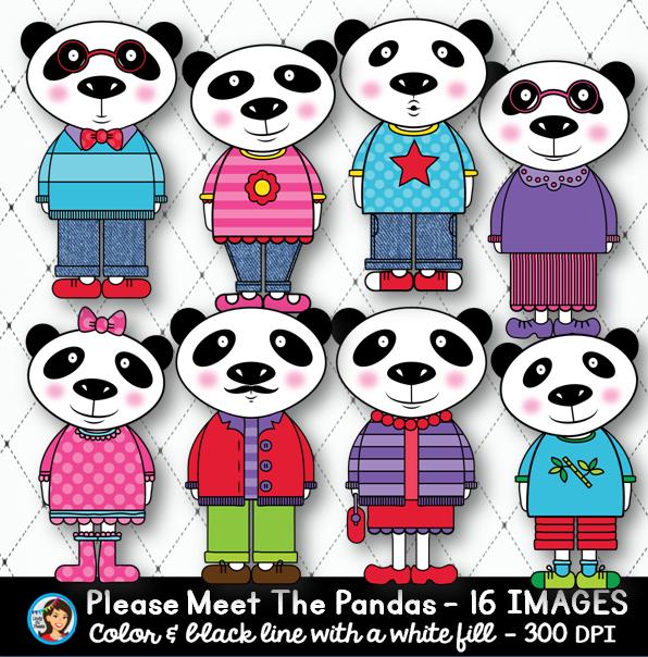 Clip art, Pandas and Colors on Pinterest.
