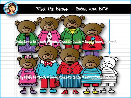 Bears Clip Art by lindylovestoteach.
