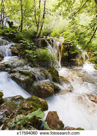 Stock Photography of Plitvice Lakes National Park, Croatia.