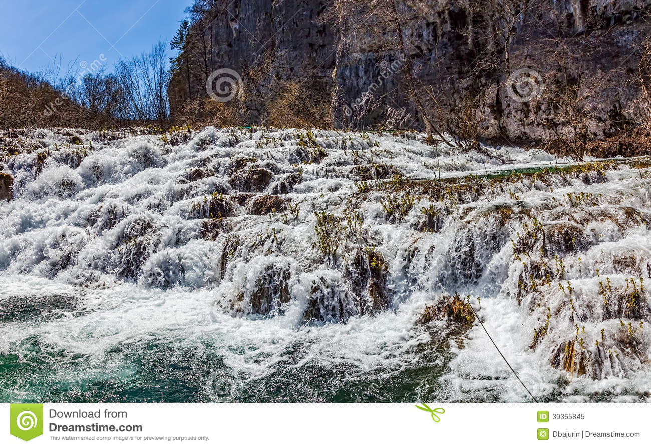 Plitvice Lakes National Park, Croatia Stock Photo.