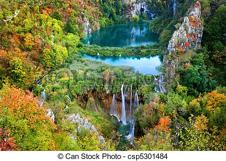 Stock Photo of Plitvice Lakes.