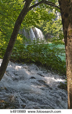 Stock Photograph of Plitvice Lakes National Park k4919989.