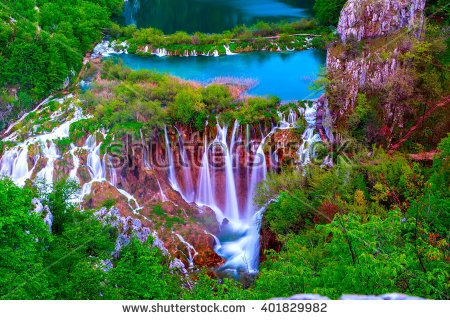 Plitvice Waterfall Stock Photos, Royalty.