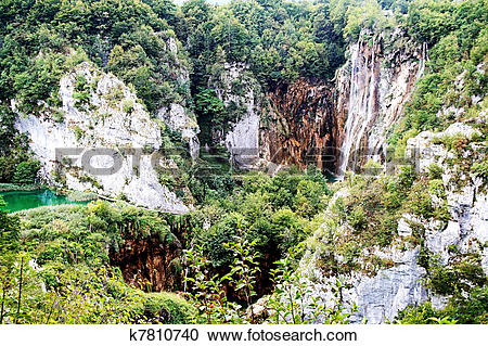 Stock Photography of Plitvice Lakes k7810740.