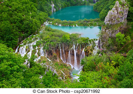 Stock Photographs of Plitvice Lakes National Park.