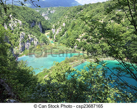 Stock Image of Croatia plitvice lakes national park.