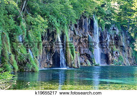 Picture of Plitvice Lakes in Croatia k19655217.