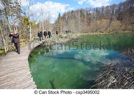 Stock Photo of plitvice national park.