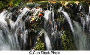 Stock Image of Waterfall at Plitvicka Jezera.