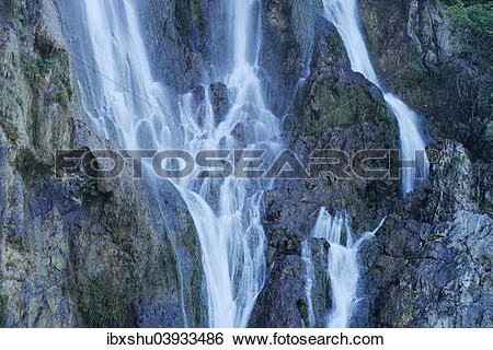 """Stock Images of """"Waterfall, Plitvice Lakes National Park."""