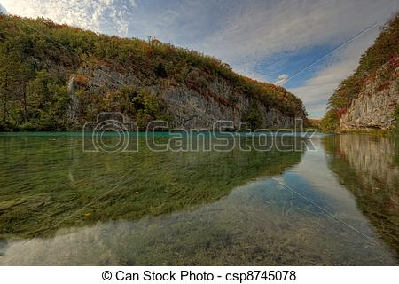 Pictures of Lake at Plitvicka Jezera.