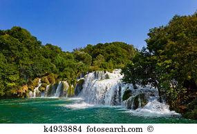 Croatia plitwitz lakes waterfall Stock Photo Images. 3,291 croatia.