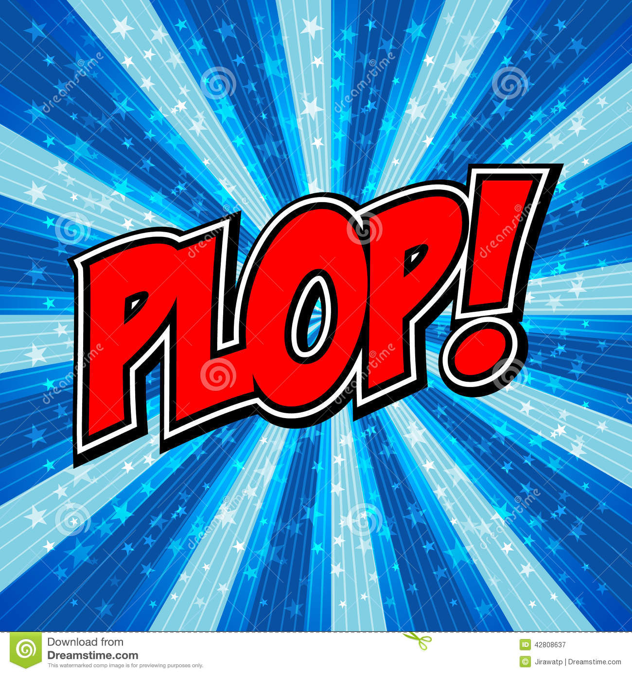 Plop! Comic Expression Vector Text. Stock Vector.