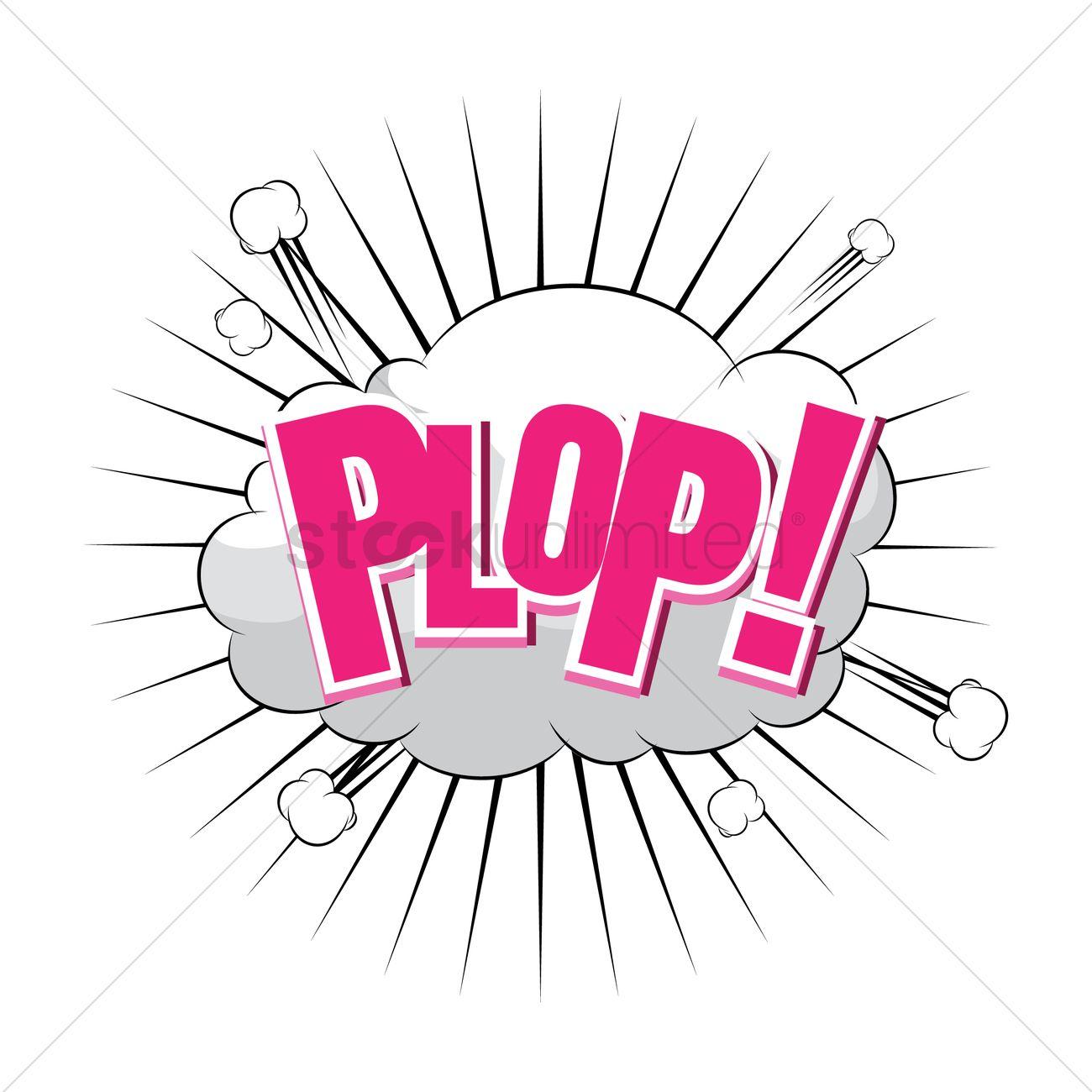 Plop comic wording Vector Image.