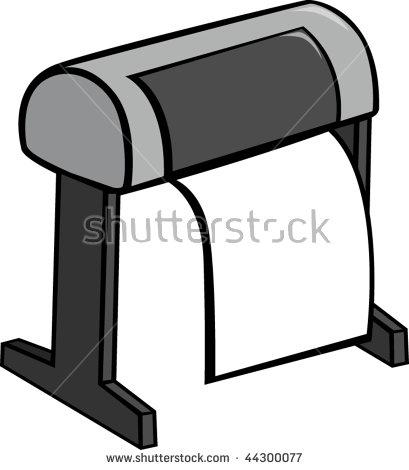 Large Format Printer Plotter Stock Vector 44300077.