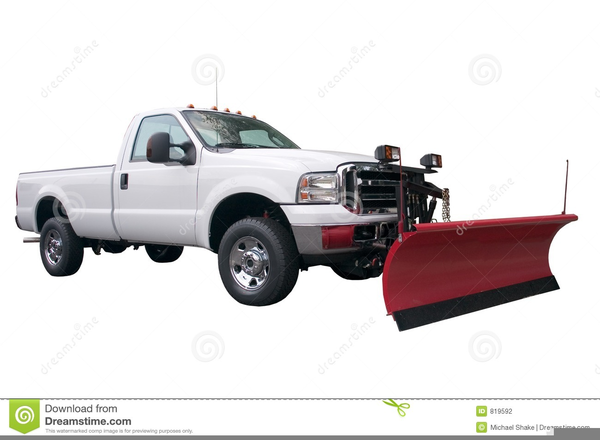 Snow Plow Truck Clipart.