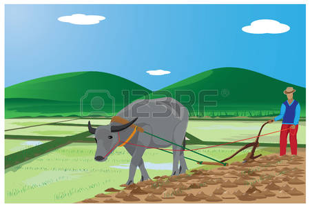 Farmer In The Field Clipart.