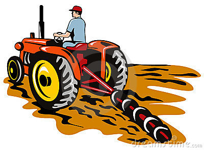 Tractor Plowing Clipart.