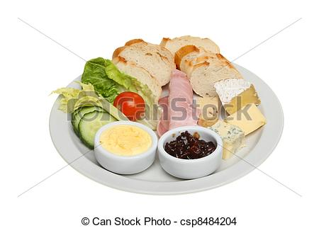 Stock Photo of Ploughmans lunch.