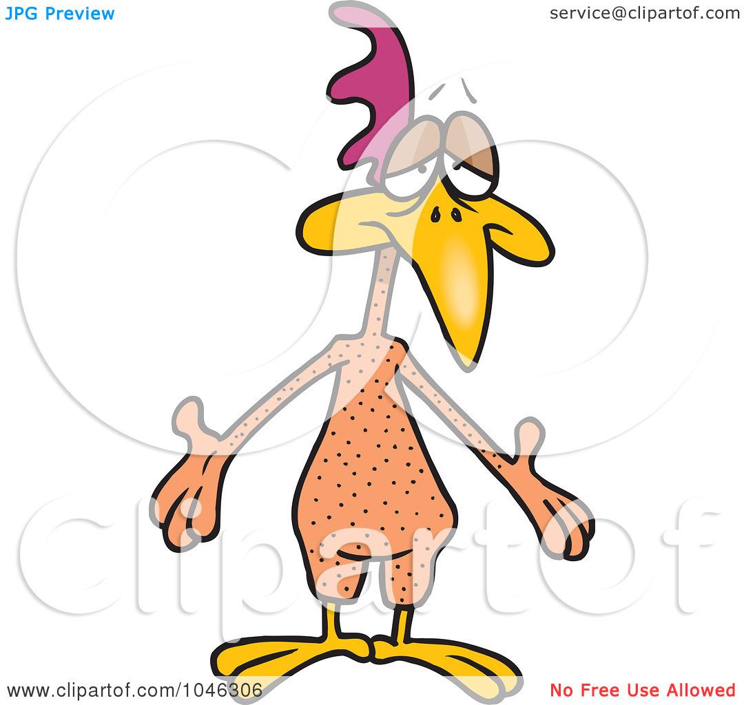 Plucked chicken clipart.
